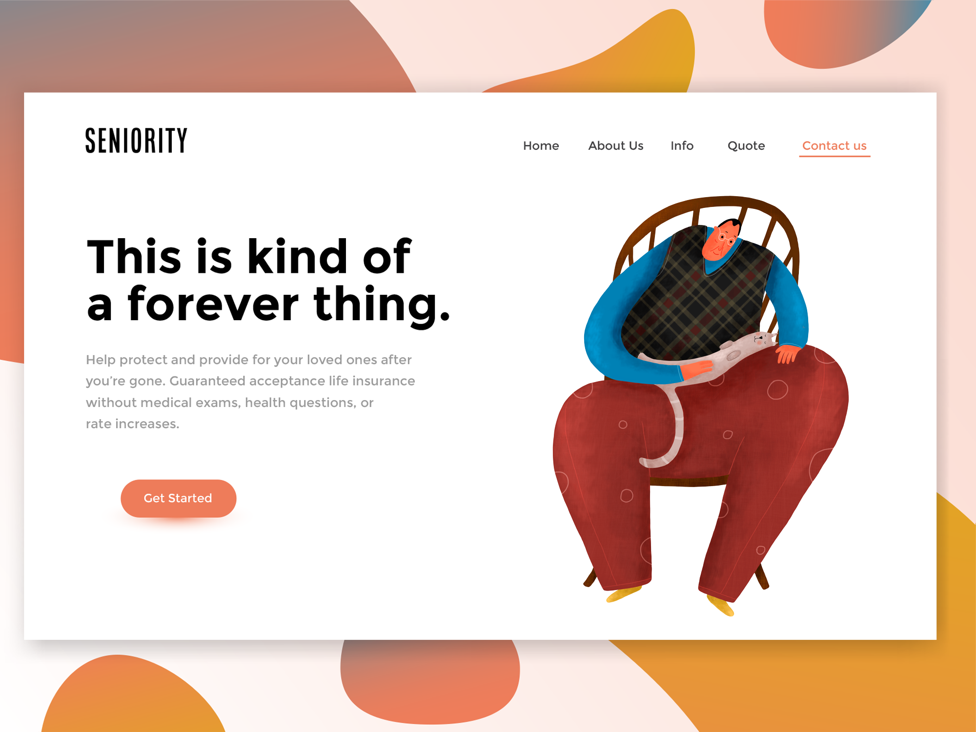 Seniority Life Insurance Startup | Landing Page Design | Lindsey Created