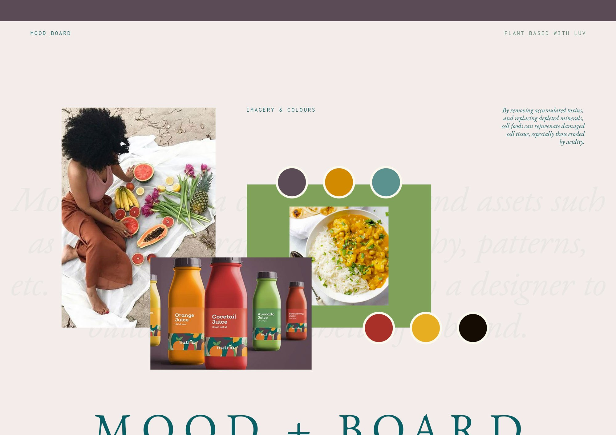 Plant Based Brand Identity | Mood Board