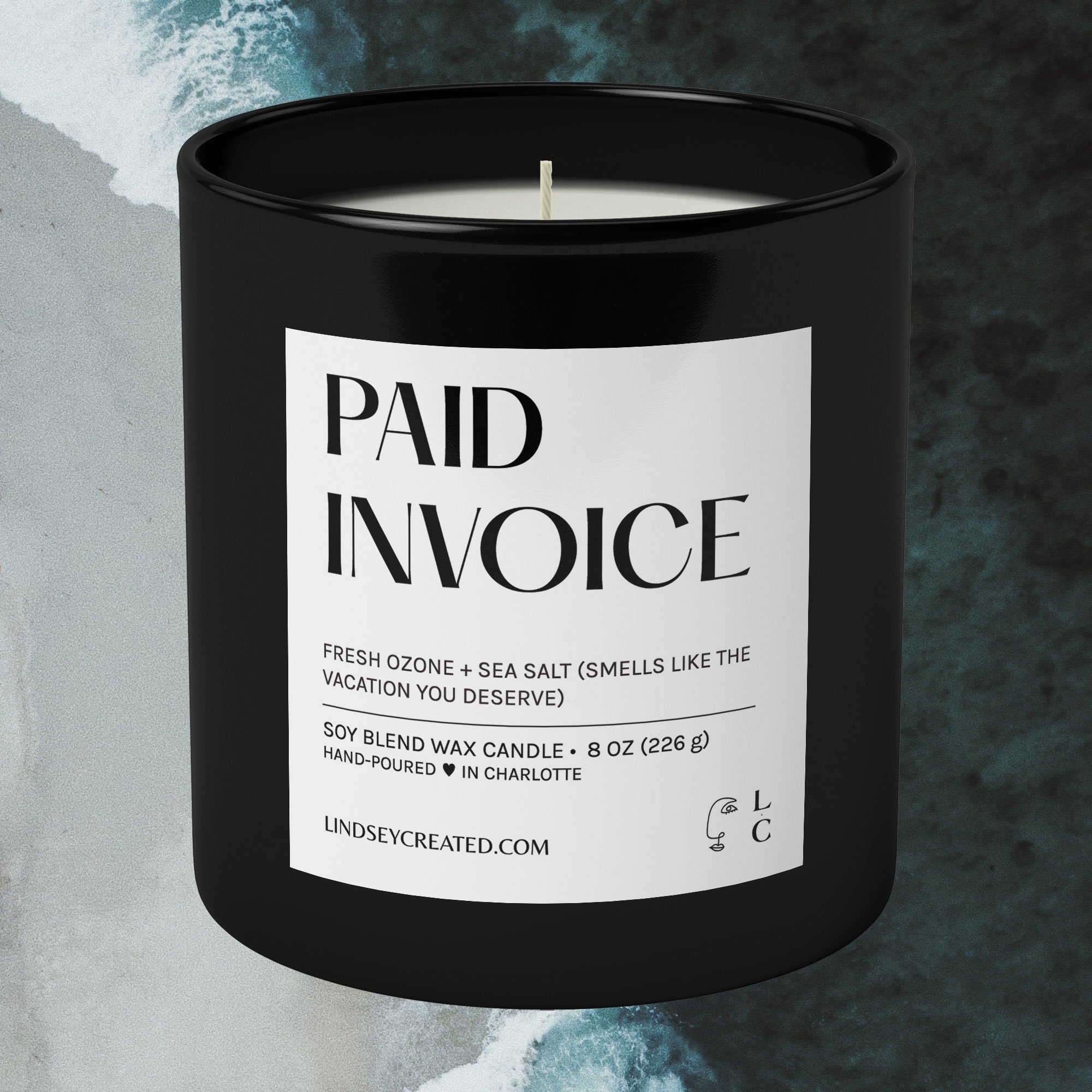 Paid Invoice Candle | 8oz Soy Blend