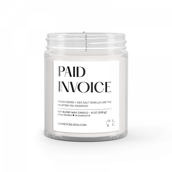 Paid Invoice Candle Classic
